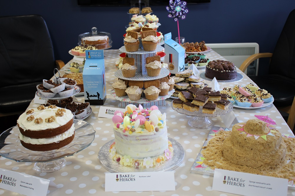 A selection of cakes baked by Polymedia