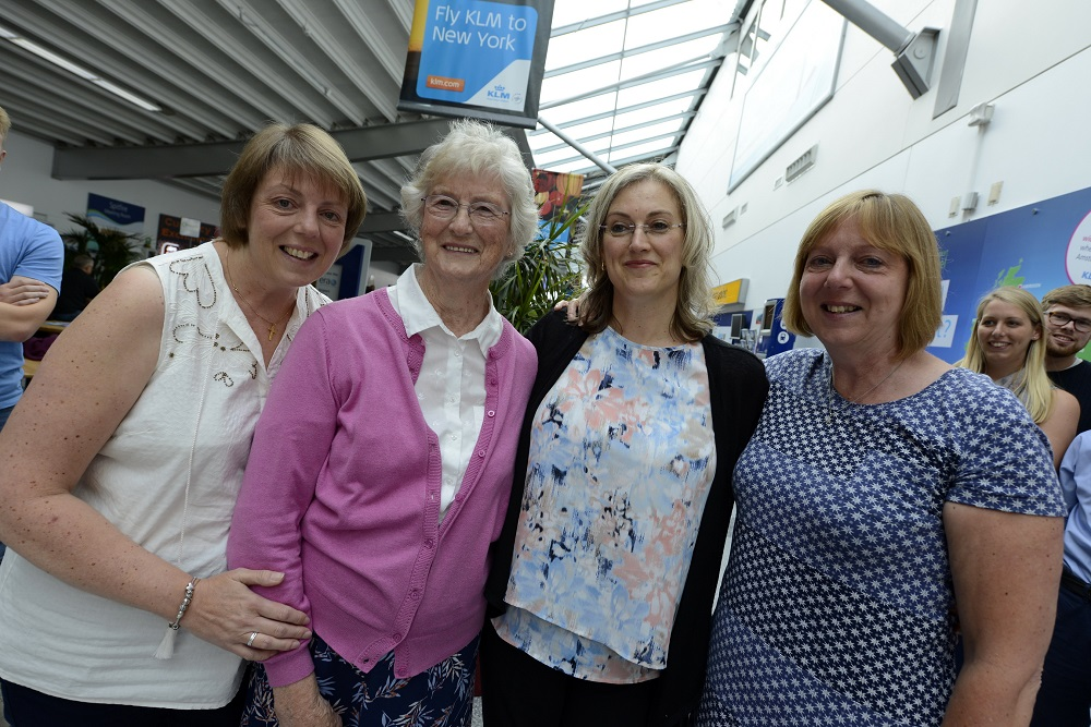 Doreen and daughters Sue, Sally and Jane