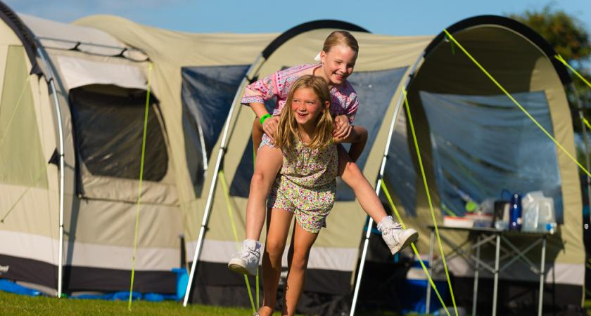 Bunn Leisure children playing at campsite